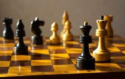Schach auf dem Schachbrett Lizenzfreie Stockfotos