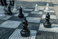 Schach auf der Straße in Sarajevo Stockbild