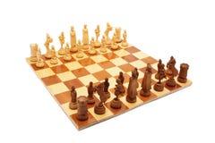 Schach auf Schachbrett Lizenzfreie Stockfotos