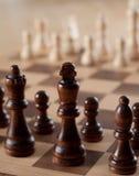 Schach an Bord Lizenzfreies Stockfoto