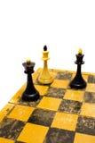 Schach an Bord Stockbild
