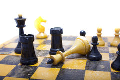 Schach an Bord Stockfoto