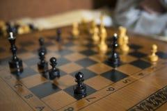 Schach-Brettabschluß stockfotos