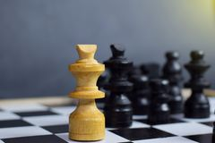 Schach-Brettspiel Herausforderungs- und Verschiedenartigkeitskonzept stockbilder