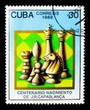 Schach, das 100. Anninersary der Geburt von Jose Capablanca-ser Stockfotos