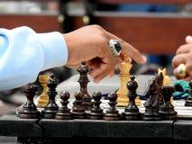 Schach, das ina apublic Park in Bali spielt Stockbild