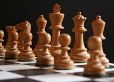 Schach, der Anfang Lizenzfreie Stockbilder