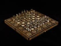 Schach: der Anfang der Party Lizenzfreie Stockfotografie