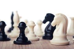 Schach des weißen Ritters Stockfotos