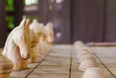 Schach des weißen Ritters Stockbilder