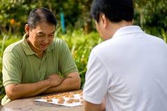 Schach draußen Stockfotos