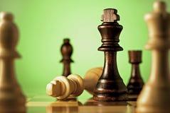 Schach, ein Geschicklichkeitsspiel und Planung Stockbilder