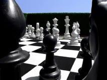 Schach in einem Garten Stockfotografie