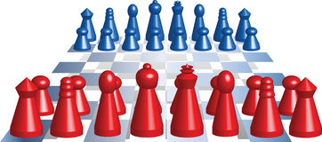 Schach_figuren illustration stock