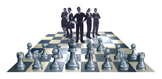 Schach-Geschäfts-Team-Konzept Lizenzfreie Stockbilder