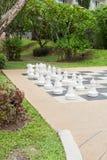 Schach im Garten Stockfoto