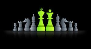 Schach-König Stockfotos