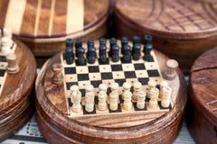 Schach am Markt Lizenzfreies Stockfoto