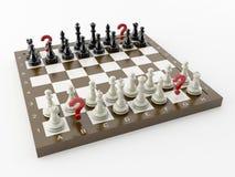 Schach mit der Frage Stockfoto