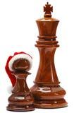 Schach mit Sankt-Hut Lizenzfreie Stockbilder