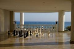 Schach nahe dem Meer Stockbild