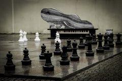 Schach-Reihe lizenzfreie stockfotos