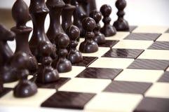 Schach-Schokolade Lizenzfreie Stockfotos