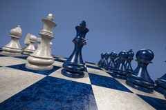 Schach: Schwarzes gegen Weiß Stockfoto