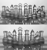 Schach-Set-Ansammlung: Das beste Team Stockfoto