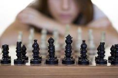Schach-Spiel stockfoto