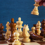 Schach-Spiel, das ein Bewegungs-Quadrat Platz kopieren lässt Stockbilder