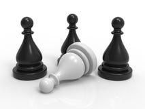 Schach-Spiel-Stücke Stockfoto