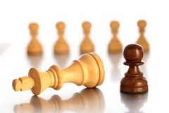 Schach Spielniederlage Stockfoto