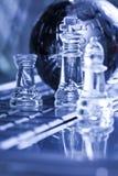 Schach und Kugel Stockfotografie