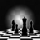 Schach-Vorstand stockbild
