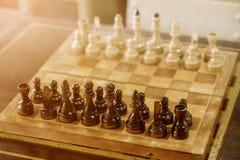 Schach-Vorstand-Abschluss oben Lizenzfreie Stockfotos