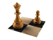 Schachabbildung Pfandgegenstand und Königin Stockfotos