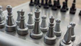 Schachbrett compettition Konzept Stockfotografie