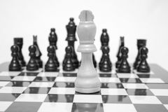 Schachbrett Ein gegen ein Lizenzfreie Stockbilder