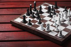 Schachbrett mit Zahlen Stockfotografie