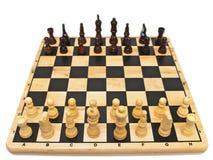 Schachbrett und Schach Stockfotografie