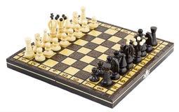 Schachbrett vor dem Kampf Stockfotos