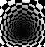 Schachbretthintergrund mit Perspektiveneffekt Stockbild
