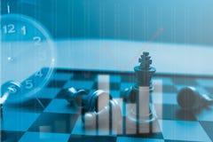 SchachBrettspiel von Geschäftsideen und -wettbewerb und Strategie planen Stockfotografie