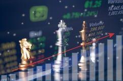 SchachBrettspielkonzept von Geschäftsideen Lizenzfreie Stockfotografie