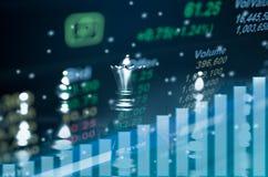 SchachBrettspielkonzept von Geschäftsideen Lizenzfreie Stockfotos