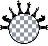 Schachbrettstücke stock abbildung