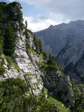 Schachen Mountain, Bavarian Alps. This is near Germany's highest mountain, Zugspitze stock photography