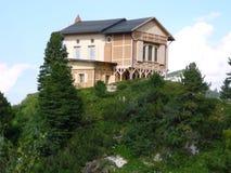 Schachenhaus on Mount Schachen. Schachen Haus on Mount Schachen. It was built by Bavaria's last eccentric king Ludwig II (of Neuschwanstein fame). It stands on royalty free stock photography
