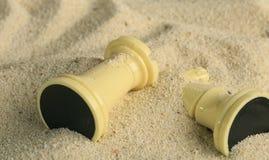 Schachfiguren in einer Sanddüne Lizenzfreie Stockbilder